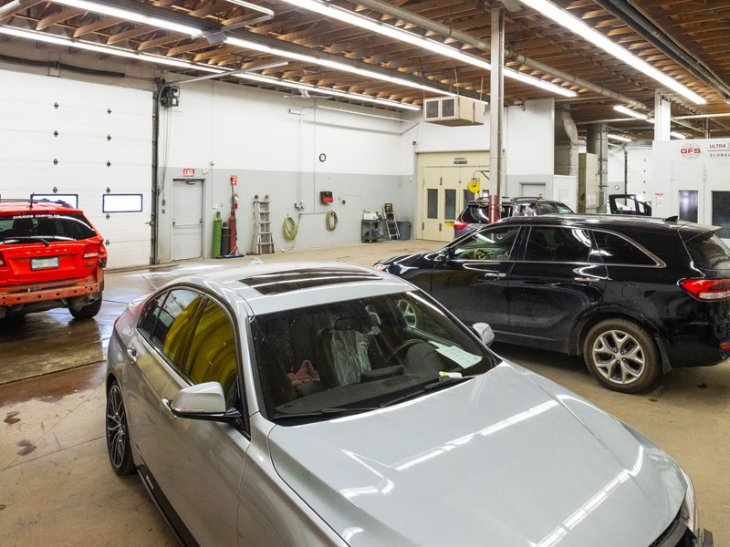 Vehicles In Shop